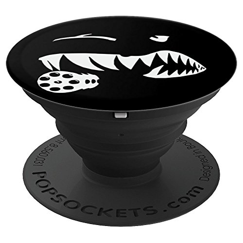 Aviation Military Aircraft A10 Warthog Nose Art Pilot - PopSockets Grip and Stand for Phones and Tablets