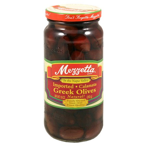 Mezzetta Calamata Olives, 10 oz Jars, (Pack of 6)
