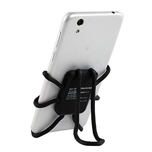 FLE HOLDER 구불구불《스마트폰 장갑 터치 장갑호루다》 《스마트폰 장갑 터치 장갑스탄도》 와이어― 구불구불 홀더 탁상 차량 탑재 훅 다용도 아이폰 Galaxy Samsung Note Android 스마트 폰 외에 블랙