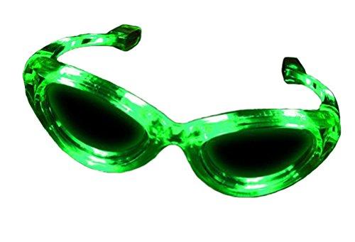 Green LED Light up Flashing Novelty Party (Party City Sunglasses)