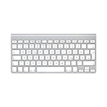 Apple MC184D/B - Teclado inalámbrico sin teclado numérico (baterías AA, Bluetooth), color plateado - Teclado QWERTZ Alemán: Amazon.es: Informática