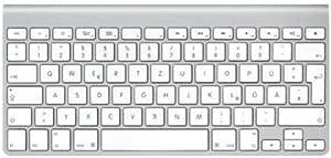Apple MC184D/B - Teclado inalámbrico sin Teclado numérico (baterías AA, Bluetooth), Color Plateado - Teclado QWERTZ Alemán