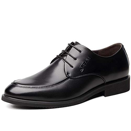 - Zaqxs Men's Handmade Goodyear Welted Italian Leather Split Brogue Brown Shoe with Rubber Sole Insert (Color : Black, Size : 40 EU)