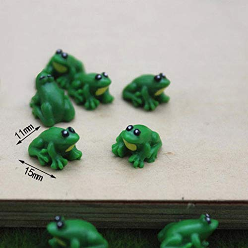 Resin Cute Frog Model Figurine for Doll House Secenery Layout Accessory