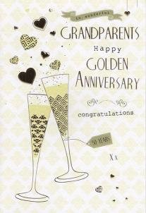 to special grandparents on your 50th golden wedding anniversary card