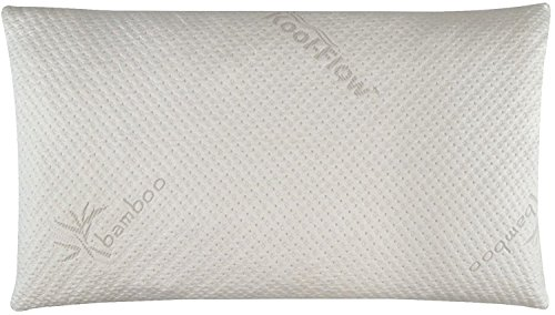 Snuggle-Pedic Ultra-Luxury Bamboo Shredded Memory Foam Pillow Combination with Adjustable Fit and Zipper Removable Kool-Flow Breathable Cooling Hypoallergenic Pillow Cover (King) (Pillow Coconut)