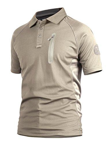 YFNT Homme Camouflage Revers T-Shirt Manches Courte de Plein Air Décontractée Séchage Rapide Respirant Tactique… 1