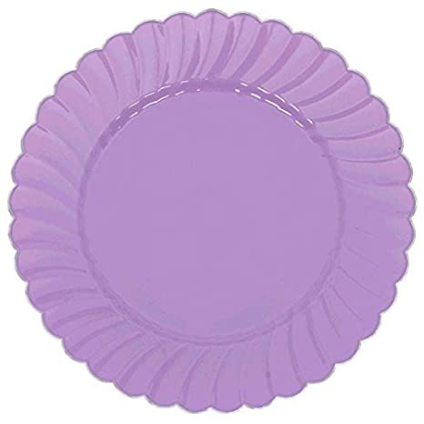 Amazon com: Amscan Scalloped Premium Plastic Plates with