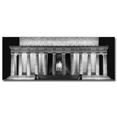 Lincoln Memorial- Night by Gregory O'Hanlon, 18x47-Inch Canvas Wall (Lincoln Memorial Framed Photograph)