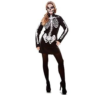 Fyasa 706097-t04 esqueleto niña disfraz, tamaño grande: Amazon.es ...