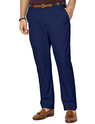Ralph Lauren Flat Front Blue Twill Cotton New Men's Chino Pants (38W x 34L)