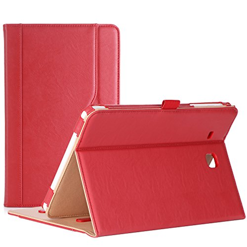 ProCase Samsung Galaxy Tab E 9.6 Case – Vintage Stand Folio Case Cover for Galaxy Tab E 9.6/ Tab E Nook 9.6-Inch Tablet (SM-T560 / T561 / T565 and SM-T567V Verizon 4G LTE Version) -Red