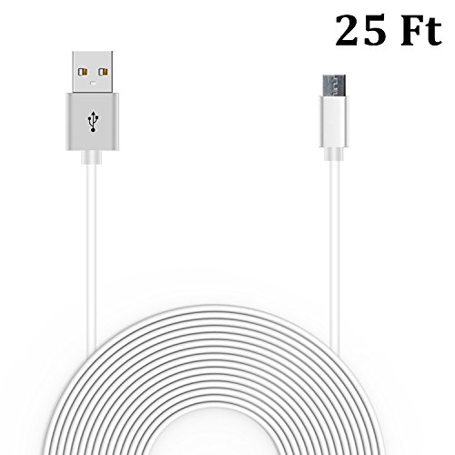 20 Ft Power Cable for WyzeCam, Amazon Cloud Cam, YI Dome Cam