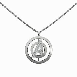 "Avenger Necklace ""A"" Logo Pendent Charm Rotatable Unisex Anime Cosplay Accessories Jewelry"