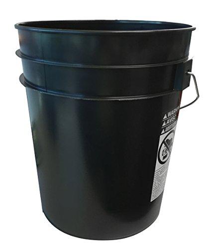 Black Bucket (Argee RG5500BK/10 Plastic Bucket (10 Pack), 5 gallon, Black)