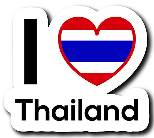 MKS0245 Love Thailand Flag Decal Sticker Home Pride Travel Car Truck Van Bumper Window Laptop Cup Wall One 5 Inch Decal