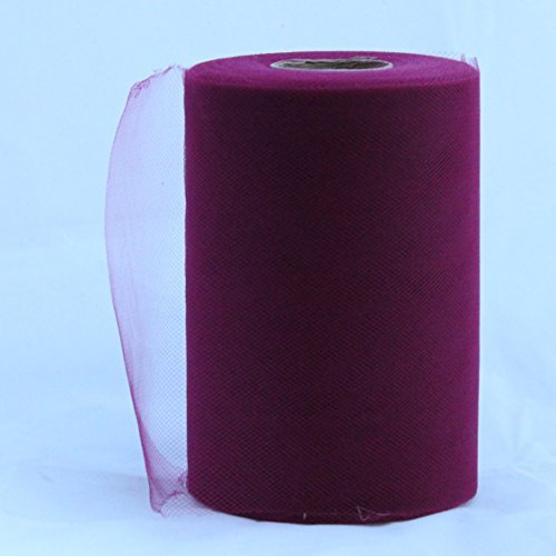 Wine Tulle Roll - 6 Inch X 100 Yard - Tulle for Decoration and Tutu Dresses