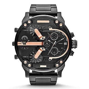 XKC-watches Relojes para Hombres, Hombre Reloj de Moda Cuarzo Calendario Acero Inoxidable Banda