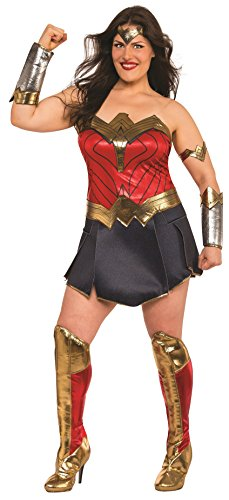 Rubie's Wonder Woman Adult Deluxe Costume, Plus Size