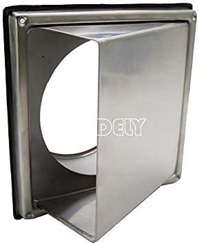 SUNDELY® Campana extractora de acero inoxidable para campana de cocina, salida de ventilación de pared exterior de 6 pulgadas: Amazon.es: Bricolaje y herramientas