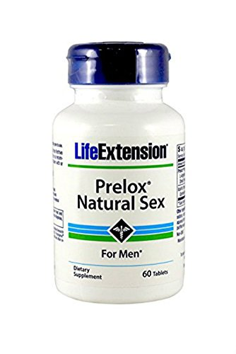 LifeExtension Prelox Natural Sex for Men-60 Tabs (Pack of 2)