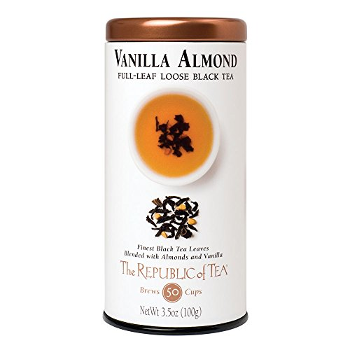 Republic Of Tea Almond Tea (The Republic Of Tea Premium Full-Leaf Black Tea, 3.5 Ounces / 50-60 Cups, Vanilla Almond)