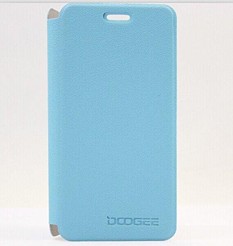 Prevoa ® ?Flip Cover Funda Pare Doogee Dg800 4.5' Smartphone - - Azul Color
