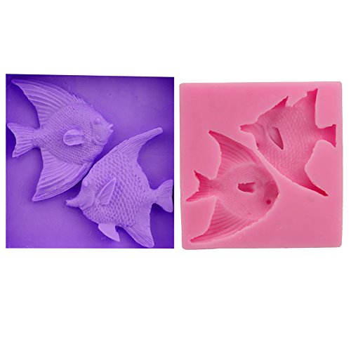 Let'S Diy DIY Salmon Fish Cake Chocolate Silicone Moulds Fondant Jelly Jello Ice Sugar Soap Molds Cake Cooking Tools Bar Moulds -