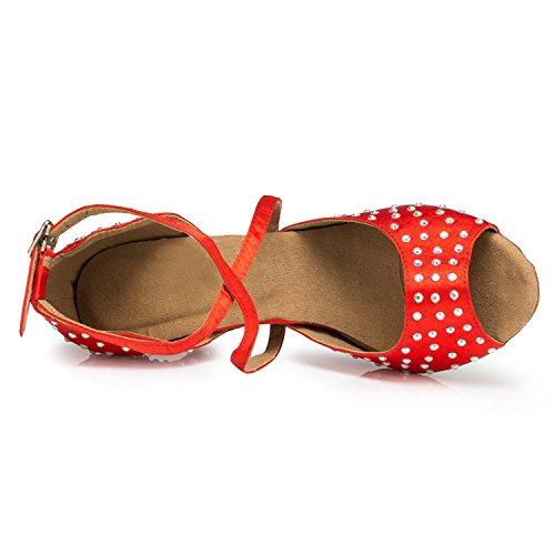 Miyoopark ,  Damen Tanzschuhe , rot - Red-8cm heel - Größe: 35