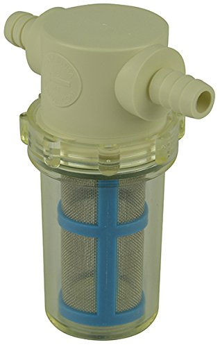 3/8'' Hose Barb In-Line Strainer with 50 mesh stainless steel filter screen by VacMotion Inc.