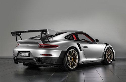 Amazon.com: Porsche 911 GT2 RS (2018) Car Print on 10 Mil Archival Satin Paper Silver/Black Front Side Static View 24