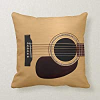 Spruce Top Acoustic Guitar Decorative Pillow Case Cushion Cover Sofa Bedroom Lumbar Throw Pillow Case 18x18 inches