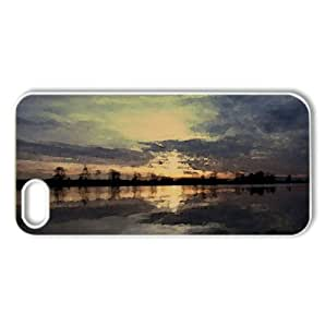 Steveston Sunset Watercolor style Cover iPhone 5 and 5S Case (British Columbia Watercolor style Cover iPhone 5 and 5S Case)