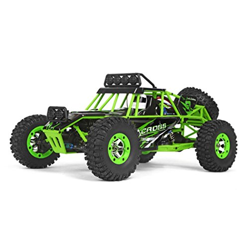 Dacawin(TM) WLtoys 12428 2.4G 4CH 1:12 4WD RC Car Electric Four-wheel Drive Climbing Rock (Green)