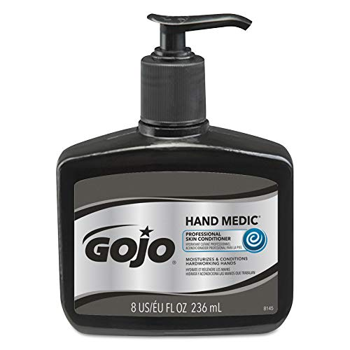 GOJO HAND MEDIC Professional Skin Conditioner, Fragrance Free, 8 fl oz Skin Conditioner Counter Top Pump Bottles (Case of 6)- ()
