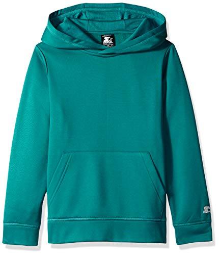 Starter Boys' AUTHEN-TECH Pullover Hoodie, Amazon Exclusive, Scuba Green, XL