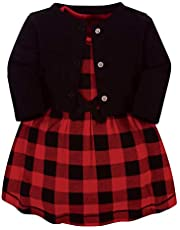 Touched by Nature Baby-Girls Organic Cotton Dress and Cardigan