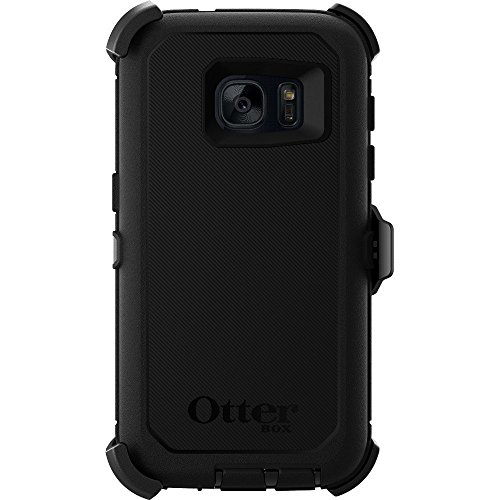 Rugged Protection OtterBox Defender Series Case for Samsung Galaxy S7 (Fits Galaxy S7 Only), Case Only - Bulk Packaging - Black