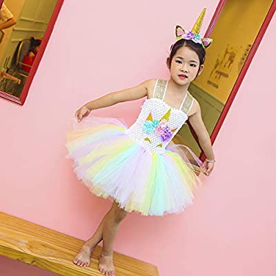 Unicorn Tutu Dress, Unicorn Birthday Outfit, Unicorn Headband, Birthday Dress: Clothing