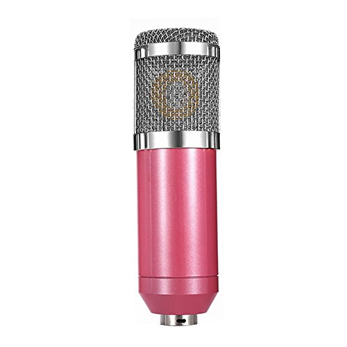 Andoer Condenser Microphone High Sensitivity Recording Studio Professional Recording Equipment Pink by Andoer
