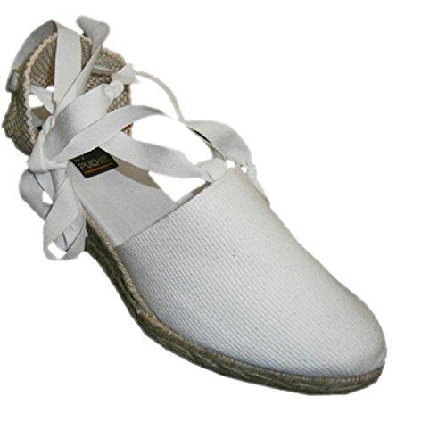 Chaussures de Valence liés à la patte de clavette moyenne Andinas en blanc