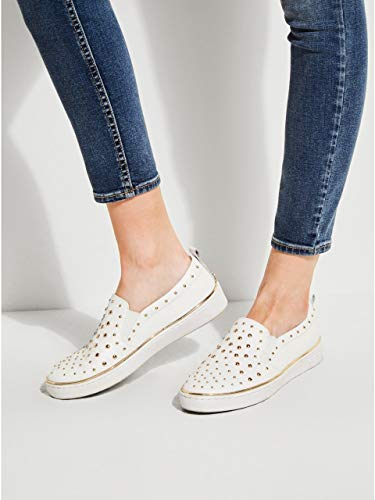 Flgoe1lea12 Guess Flgoe1lea12 On Guess Slip White Slip Guess Slip On White tqp1tUd