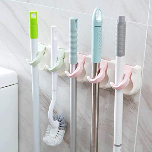 tonyvuong Professional for Hanging Toothbrush Holder, 2 3 Hole Bathroom Organizer Wall Mounted Mop Holder Suction Cup - Toothbrush Holder, Wall Mount Soap Holder, Toothpaste Wall Holder
