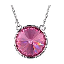 Xuping Thanksgiving Round Shade Pendant Jewelry Crystals from Swarovski Necklace With Chain Women Halloween Gifts
