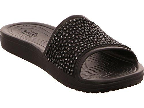 Black Black Damen Slide Sloane crocs Embellished Sandalen xZwqXPY8