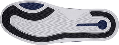 Skechers Mens Classic Fit Boyar - Tela Blu Navy