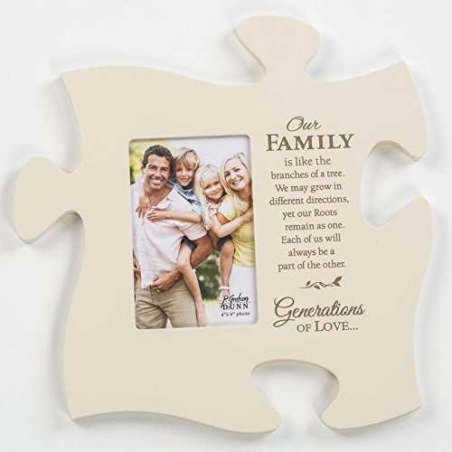 P. Graham Dunn Our Family Branches of a Tree Black 22 x 13 Wall Hanging Wood Puzzle Piece Photo Frame ()