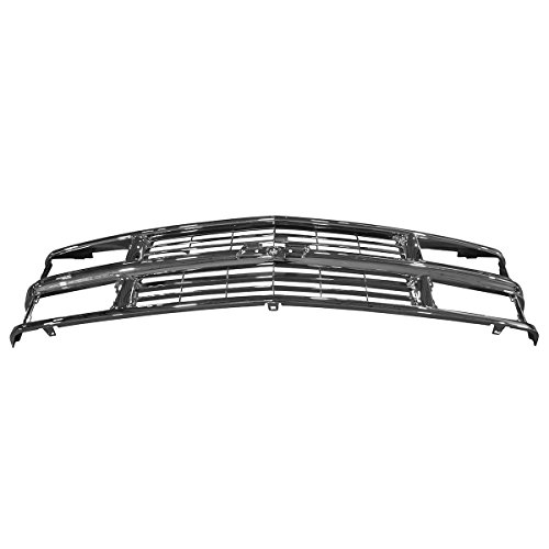 Grille Grill Chrome Front End for Chevy C/K Pickup Truck Suburban Tahoe Blazer ()