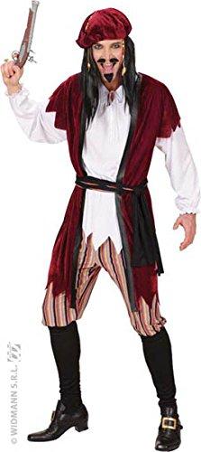 Pirates Caribbean Costumes Uk (Mens Caribbean Pirate Costume Extra Large Uk 46