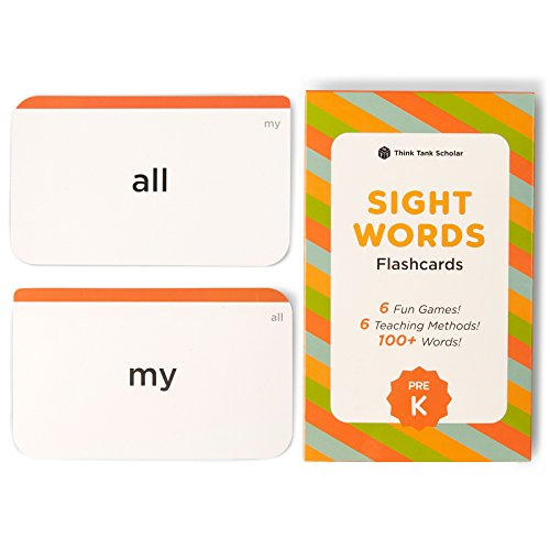 Think Tank Scholar 100+ Pre-K Sight Words Flash Cards for Toddlers Ages 3 to 4 Years (Age 4 Card)